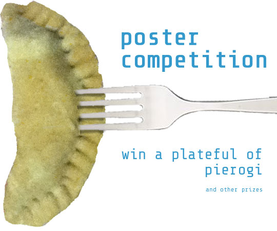 SPFF poster competition. Win a plateful of pierogi.